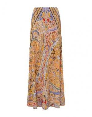 Длинная юбка ETRO. Цвет: абрикосовый