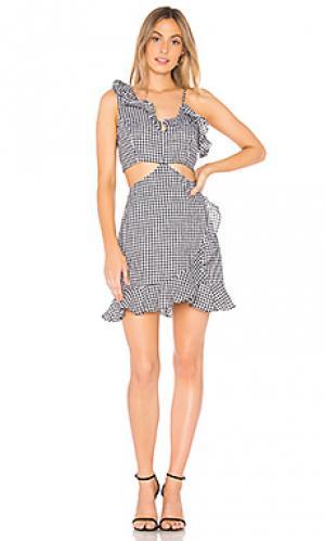 Платье с вырезами jamie Bardot. Цвет: black & white