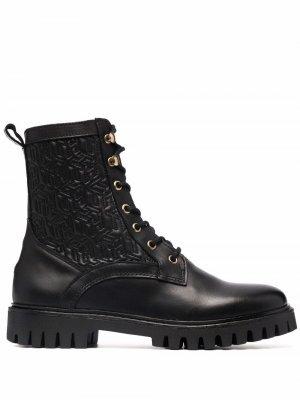 Ботинки на шнуровке Tommy Hilfiger. Цвет: черный