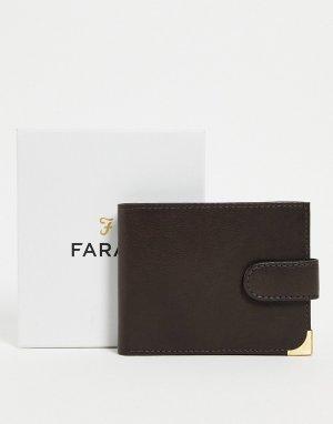 Коричневый бумажник -Коричневый цвет Farah