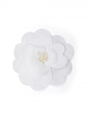 Брошь с цветочной аппликацией Philosophy Di Lorenzo Serafini. Цвет: белый