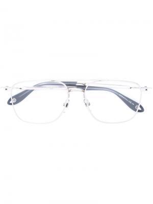 Очки с квадратной оправой Givenchy. Цвет: серый