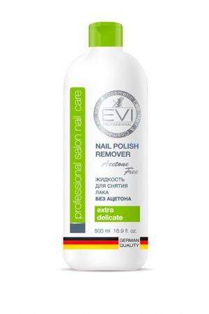 Жидкость д/снятия лака 500 мл EVI professional. Цвет: белый