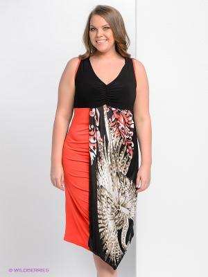Платье Giani F. Цвет: черный, розовый, серый