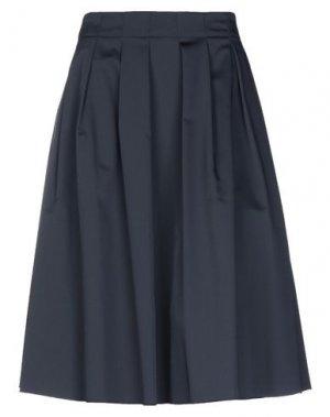 Юбка до колена ELIE TAHARI. Цвет: темно-синий