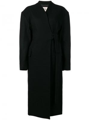 Длинное пальто A.W.A.K.E. Mode. Цвет: черный