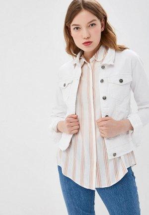 Куртка джинсовая b.young. Цвет: белый