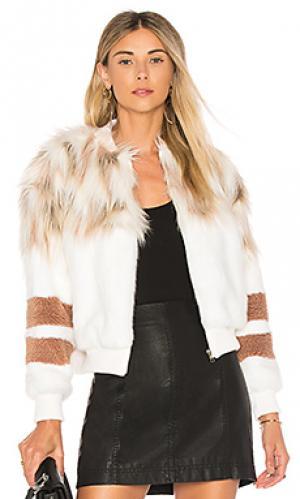 Куртка бомбер bella NBD. Цвет: белый