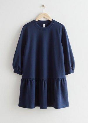 Ярусное мини-платье из джерси &Other Stories. Цвет: синий