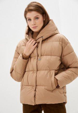 Куртка утепленная Vero Moda. Цвет: коричневый