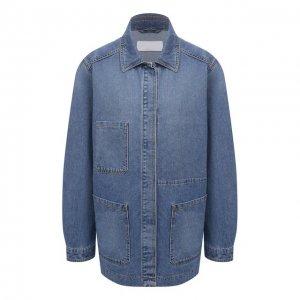 Джинсовая куртка BOSS. Цвет: синий