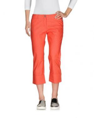 Джинсовые брюки-капри CALVIN KLEIN JEANS. Цвет: коралловый