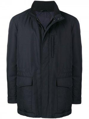 Concealed front jacket Brioni. Цвет: синий