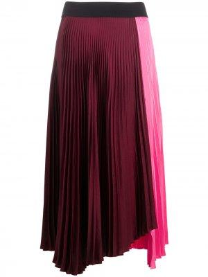 Плиссированная юбка асимметричного кроя A.L.C.. Цвет: розовый