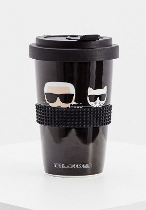 Термокружка Karl Lagerfeld IKONIK. Цвет: черный