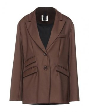 Пиджак ATTIC AND BARN. Цвет: темно-коричневый