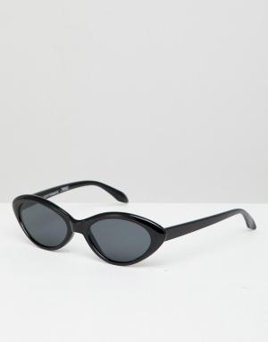 Черные солнцезащитные очки кошачий глаз inspired Reclaimed Vintage. Цвет: черный
