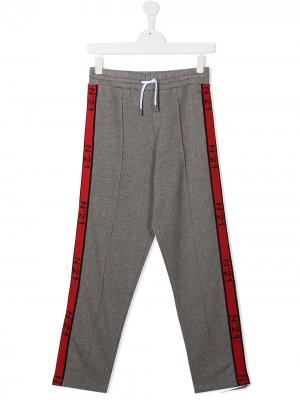 Спортивные брюки с логотипом Nº21 Kids. Цвет: серый