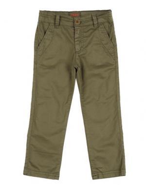 Повседневные брюки MAAN. Цвет: зеленый-милитари
