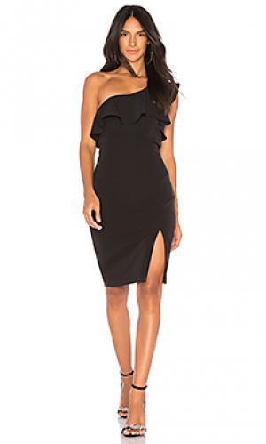 Мини платье Bardot. Цвет: черный
