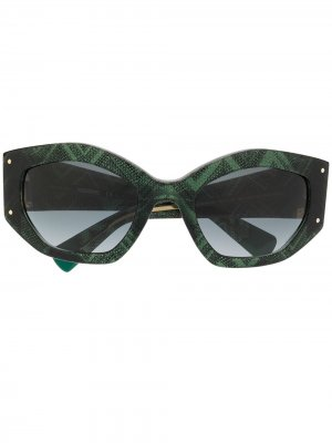 Массивные солнцезащитные очки Missoni. Цвет: зеленый