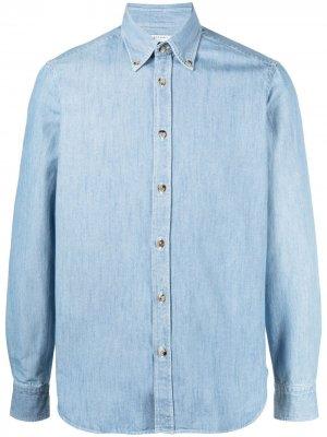 Джинсовая рубашка на пуговицах Boglioli. Цвет: синий