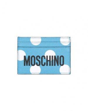 Чехол для документов MOSCHINO. Цвет: небесно-голубой