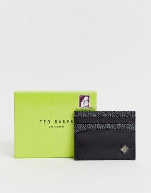 Черная визитница с логотипом Pallay-Черный Ted Baker