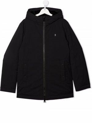 TEEN hooded zip-up padded jacket Herno Kids. Цвет: черный