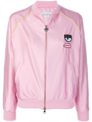 Бомбер Bad Girl Chiara Ferragni. Цвет: розовый и фиолетовый