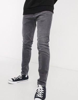 Серые зауженные джинсы ED85-Серый Edwin