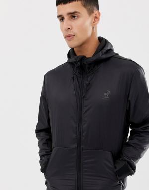 Водонепроницаемое пальто на молнии -Черный Fat Moose