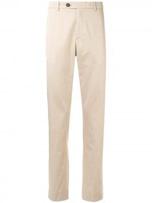 Прямые брюки с классической талией Gieves & Hawkes. Цвет: коричневый