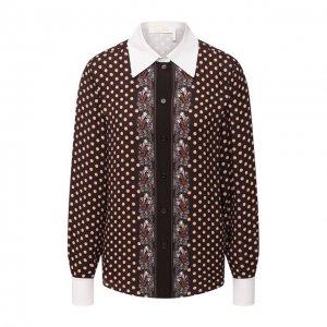 Рубашка из вискозы Chloé. Цвет: коричневый