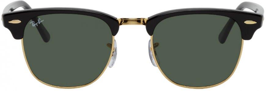 Black Clubmaster Classic Sunglasses Ray-Ban. Цвет: w0365 ebony