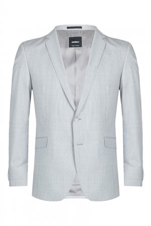Светло-серый шерстяной костюм-двойка Strellson. Цвет: серый