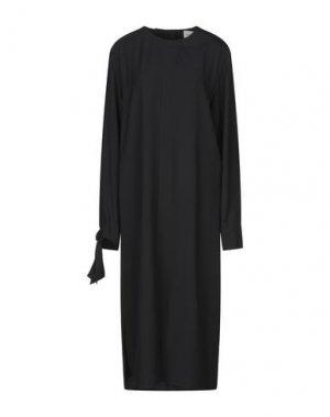 Платье длиной 3/4 ALYSI. Цвет: черный