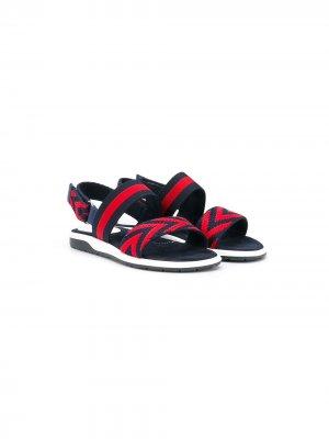 Спортивные сандалии GG Web Gucci Kids. Цвет: синий