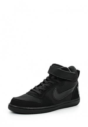 Кеды Nike Boys Court Borough Mid (PS) Pre-School Shoe. Цвет: черный