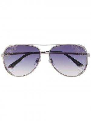 Солнцезащитные очки-авиаторы с затемненными линзами Chopard Eyewear. Цвет: золотистый