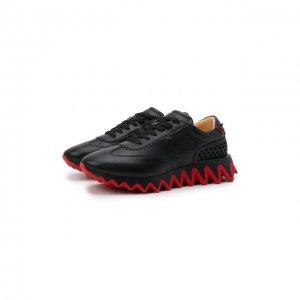 Кожаные кроссовки Loubishark Christian Louboutin. Цвет: чёрный