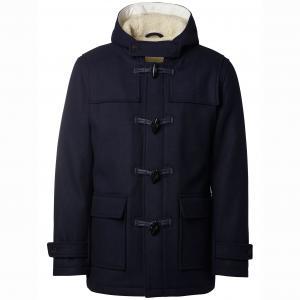 Пальто с капюшоном Carlyle в стиле дафлкот SELECTED. Цвет: синий морской