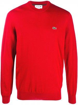 Джемпер с вышитым логотипом Lacoste. Цвет: красный
