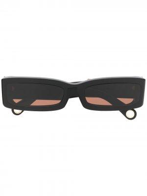 Солнцезащитные очки 97 в прямоугольной оправе Jacquemus. Цвет: черный