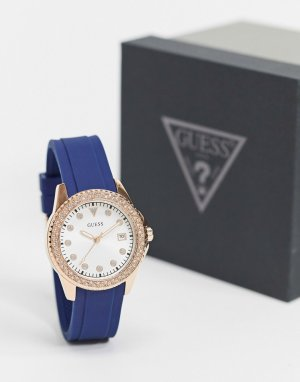 Часы с синим ремешком -Синий Guess