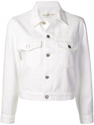 Джинсовая куртка Golden Goose Deluxe Brand. Цвет: белый