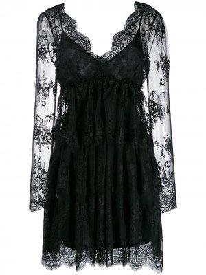 Короткое кружевное платье Aniye By. Цвет: черный