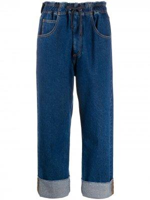 Укороченные джинсы бойфренды Opening Ceremony. Цвет: синий