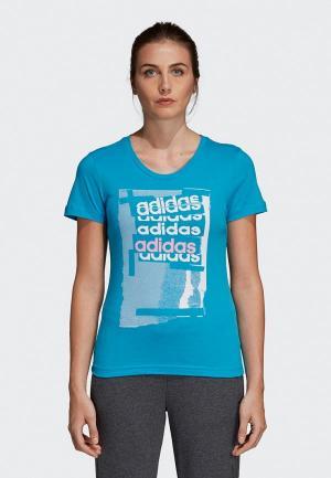 Футболка adidas Linear Tee I. Цвет: голубой