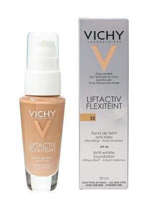 Тональное средство Vichy с эффектом лифтинга liftactiv flexilift песочный оттенок, тон 35 30 м. Цвет: бежевый
